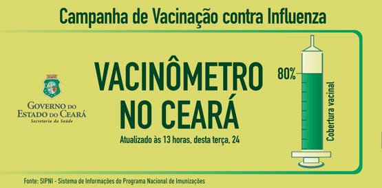 Ceará atinge a meta de vacinação contra a gripe