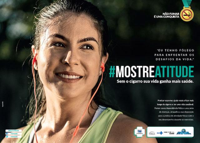 Campanha incentiva prática de esportes para combater o hábito de fumar