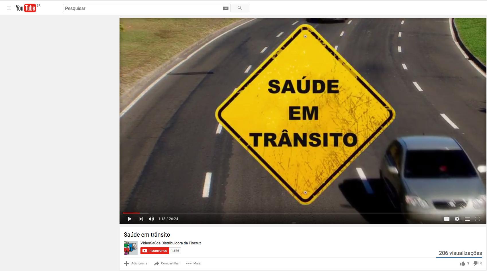 Semana Nacional de Trânsito – Documentário alerta para a violência no trânsito no Brasil