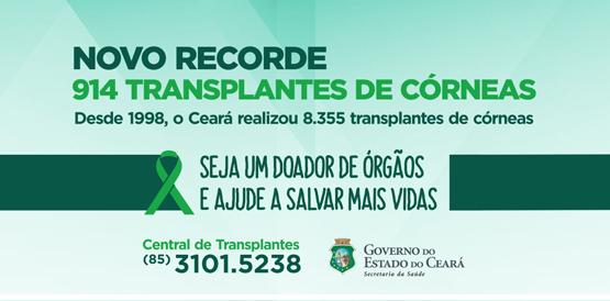 Número de transplantes de córnea em 2016 já é o maior da história
