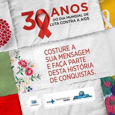 Saúde lança campanha para marcar Dia Mundial de Luta Contra a AIDS